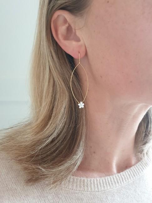 Boucles d'oreilles FLORE